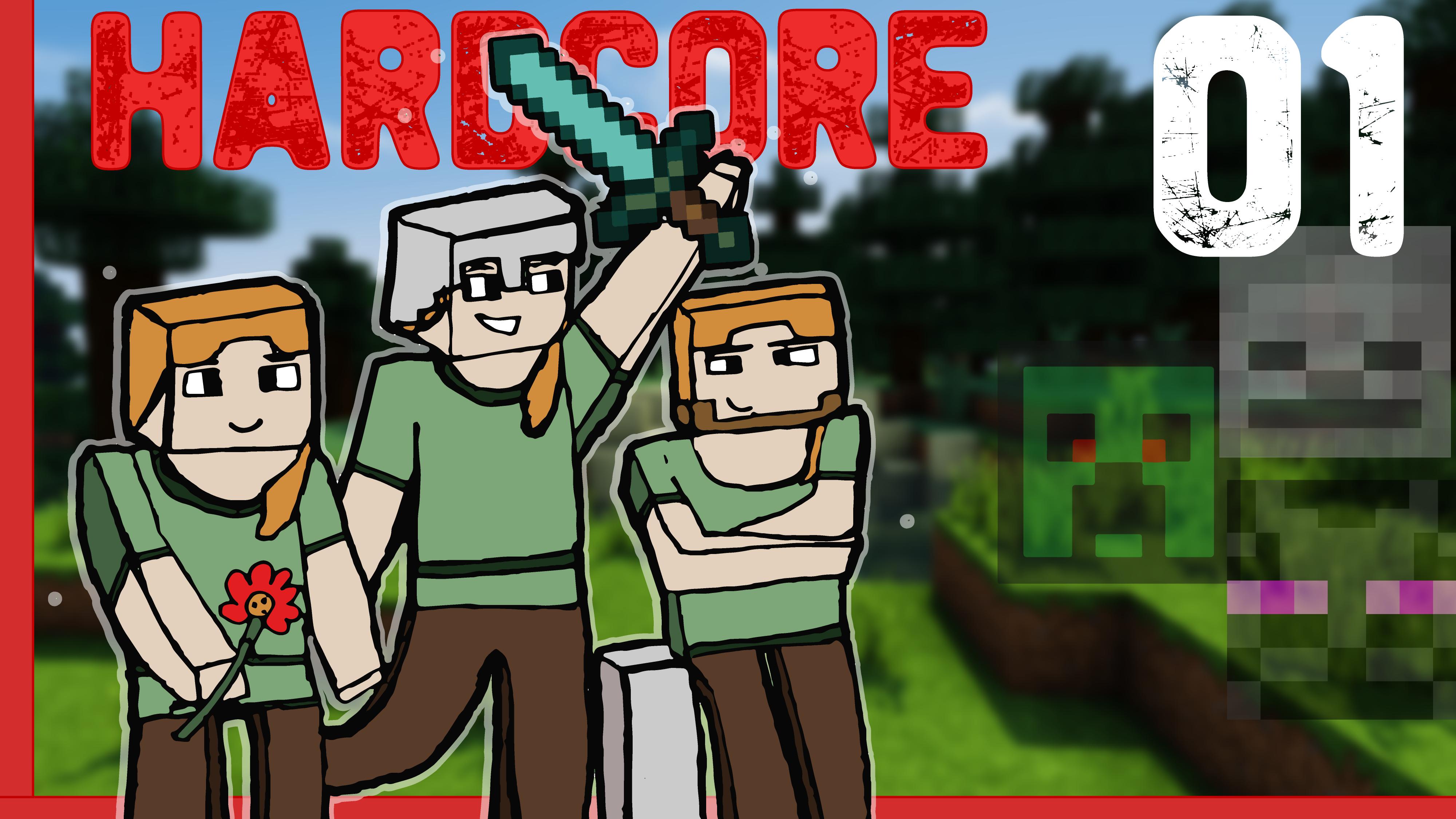 Let's Play Minecraft HARDCORE – LES AVENTURES DE TROIS NOOBS