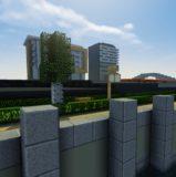 Ville moderne futuriste (building et vitre à la clé)
