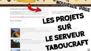 Découvrez les projets Taboucraft !